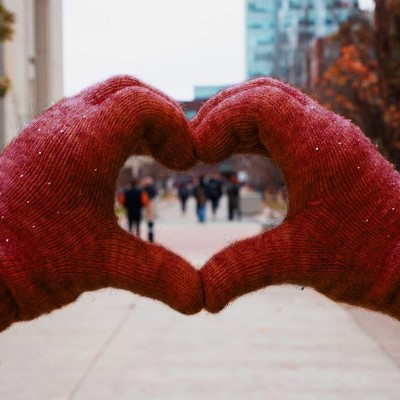 Two hands forming heart