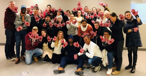 Undefeated: Members of sports organizations from around the world cheerfully took on the challenges of January in Ottawa.